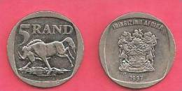 SOUTH AFRICA  1997 Nicely Used 5 Rand Coin Nr. 166, C938 - Afrique Du Sud