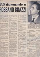 (pagine-pages)ROSSANO BRAZZI  Tempo1958/21. - Libri, Riviste, Fumetti