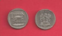 SOUTH AFRICA  1997 Nicely Used 1 Rand Coin - Zuid-Afrika