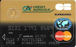 -CARTE+-PUCE-MAGNETIQUE-CB-CREDIT CREDIT AGRICOLE -MASTERCARD-01/00--ICA- 1031-SOLAIC-06/97-TBE-RARE - France