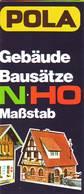 KAT266 Modellbaufolder POLA, Gebäude N Und H0, Faltprospekt, Neuwertig, Deutsch - Littérature & DVD