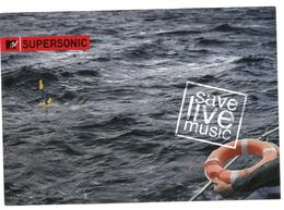 Pubblicità MTV Supersonic Save Live Music Promocard PC 2806 Condizioni Come Da Scansione - Advertising