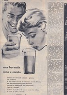 (pagine-pages)PUBBLICITA' BIRRA  Tempo1958/21. - Libri, Riviste, Fumetti