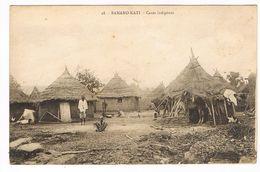 CPA. Mali. Bamako-Kati.  Cases Indigènes  (F.183) - Mali
