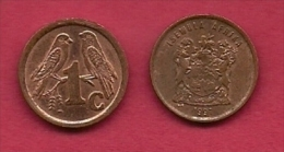 SOUTH AFRICA, 1998, 5 Off Nicely Used Coins 1 Cent Birds C2163 - Zuid-Afrika
