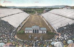 CPA ATHENES (GRECE) STADION - ECRITE PAR UN MILITAIRE FRANCAIS DE L'ARMEE D'ORIENT - Griechenland