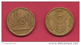 SOUTH AFRICA, 2006, 3 Off Nicely Used Coins 50 Cent C2083 - Zuid-Afrika