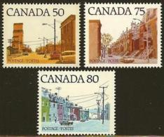 CANADA, 1978, Mint Never Hinged Stamp(s), Definitive's Streets,  Michel 695-697, M5689 - 1952-.... Reign Of Elizabeth II