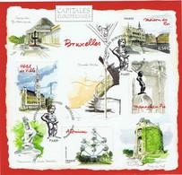 Capitales Européennes -  Bruxelles - Oblitération 1er Jour - Blocs & Feuillets
