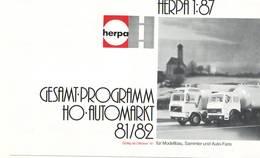 KAT272 Modellbauprospekt HERPA H0, 1:87, Gesamtprogramm 1981/82, Mit Preislisten, 6-seitiger Faltprospekt, Deutsch. - Littérature & DVD
