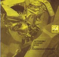 KAT273 Modellprospekt RIO Italy - Automobile Früherer Zeiten, Neuwertig, Deutsch, 9 Seiten - Littérature & DVD
