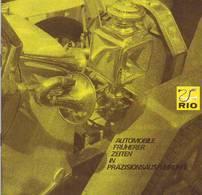 KAT274 Modellprospekt RIO Italy - Automobile Früherer Zeiten, Neuwertig, Deutsch, 9 Seiten - Littérature & DVD