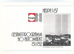 KAT277 Modellbauprospekt HERPA H0, 1:87 Autos, 1981/82, Deutsch, Neu - Literature & DVD