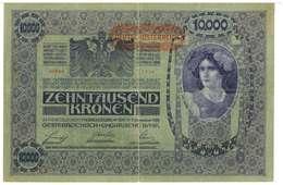 IMPERO AUSTRO UNGARICO - ANNO 1918 - 10.000 KRONEN - QUALITA' B - SERIALE 00864 - 1114 - WYSIWYG - Austria