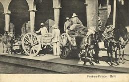 Haïti, PORT-AU-PRINCE, Horse Carts (1910s) Postcard - Haiti