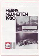KAT281 Modellbaukatalog HERPA Neuheiten 1980, Deutsch, Neuwertig - Littérature & DVD