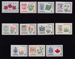 CANADA, 1964, Mint Never Hinged Stamp(s), Provincial Badges,  Michel 362-374, M5523, 11 Values Only - 1952-.... Reign Of Elizabeth II