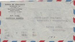 AIRMAIL CIRCULEE ECUADOR A BUENOS AIRES, BANCO DE DESCUENTO A NUEVO BANCO ITALIANO AÑO 1945 BANDELETA PARLANTE - BLEUP - Ecuador