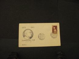 VATICANO - BUSTA - PAPA L. 15 - 1958-1963 - ANNULLATA - Vatican