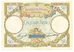 FRANCIA  - 50 FRANCHI - QUALITA' B - ANNO 1933 SERIALE 098 - H 13667 - WYSIWYG - 50 F 1927-1934 ''Luc Olivier Merson''