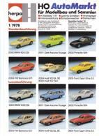 KAT284 Modellbau Infoblatt HERPA Info 1/1978, Deutsch, Neu - Littérature & DVD