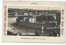 3077 - Chromo AU TAPIS ROUGE - Bayonne Confluent De L'Adour Et De La Nive Faubourg Saint Martin Paris - Other
