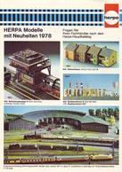 KAT285 Modellbahnprospekt HERPA Neuheiten 1978, Deutsch, Neuwertig - Littérature & DVD