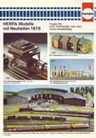 KAT286 Modellbahnprospekt HERPA Neuheiten 1978, Deutsch, Neuwertig - Literature & DVD