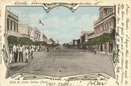 Peru, CALLAO, Calle De Lima (1903) Postcard - Peru
