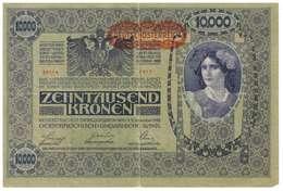 IMPERO AUSTRO UNGARICO - ANNO 1918 - 10.000 KRONEN - QUALITA' B - SERIALE 50114 - 1317 - WYSIWYG - Austria