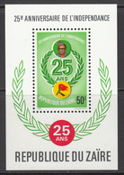 1985 Zaire Independence President Mobutu  Souvenir Sheet Complete Set Of 1 MNH - Zaire