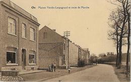 -ON -Maison Verdin-Lespagnard Et Route De Marche ,enfants Posant Devant La Maison , Carte écrite En - België