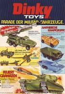 KAT290 Modellbaufolder DINKY Infoblatt Militärfahrzeuge, Deutsch, Vorderseite Bestempelt - Littérature & DVD