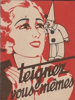 """Femme Et Pierrot Sur Devant De Petit Livret """"Teignez Vous Même"""" - Teinture IDEALE - Werbung"""