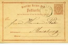 DR P 1 - 1/2 Gr Adler M. Stpl. Halle A.Saale Bedarfsverwendet - Deutschland