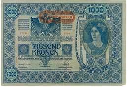 IMPERO AUSTRO UNGARICO - ANNO 1902 - 1000 KRONEN - QUALITA' B - SERIALE 77789 - 2708 - WYSIWYG - Austria