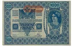 IMPERO AUSTRO UNGARICO - ANNO 1902 - 1000 KRONEN - QUALITA' B - SERIALE 54984 - 2885 - WYSIWYG - Austria