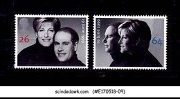 GREAT BRITAIN - 1999 ROYAL WEDDING PRINCE EDWARD - 2V - MNH - Feste