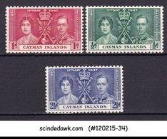 CAYMAN ISLANDS - 1937 KGVI CORONATION SG#112-4 - 3V - MINT NH - Kaimaninseln