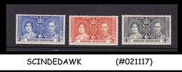 BRITISH HONDURAS - 1937 KGVI CORONATION - 3V - MINT H - Britisch-Honduras (...-1970)
