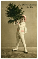A MERRY CHRISTMAS TO YOU : PRETTY BOY WITH SCARF AND HAT, AND CHRISTMAS TREE - Christmas