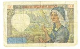 FRANCIA  - 50 FRANCHI - QUALITA' B - ANNO 1940 SERIALE Q10 - 61395 - WYSIWYG - 1871-1952 Antichi Franchi Circolanti Nel XX Secolo