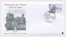 H01 Monaco 2019 Cetenary Of Us Troops' Convazlescence In Monaco FDC - Monaco