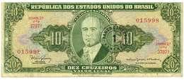 BRASILE - ANNO 1918 - 10 CRUZEIROS - QUALITA' B -  SERIALE 015998 - 3797A WYSIWYG - GETULIO VARGAS - Brasile