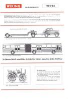 KAT306 Modellbauprospekt Wiking Bildpreisliste 1982/83, A4-Format, 6 Seiten, Neu, Deutsch - Literature & DVD