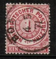 NORTH GERMAN CONFEDERATION  Scott # 4 VF USED (Stamp Scan # 471) - North German Conf.