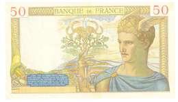 FRANCIA  - 50 FRANCHI - QUALITA' MB - ANNO 1936 SERIALE M4726 - 009 - WYSIWYG - 50 F 1934-1940 ''Cérès''
