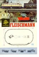 KAT311 Modellbahnprospekt Fleischmann International 1966(?), 6-seitiger Folder, Deutsch, Neuwertig - Littérature & DVD