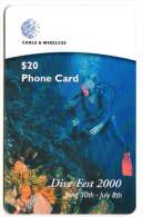DOMINIQUE REF MV CARDS DOM-C9 Année 2000 PLONGEUR - Dominica