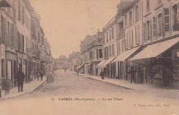 TARBES.LA RUE THIERS. J.TAPIE PHOT. CIRCULEE 1907 A BUENOS AIRES - BLEUP - Tarbes